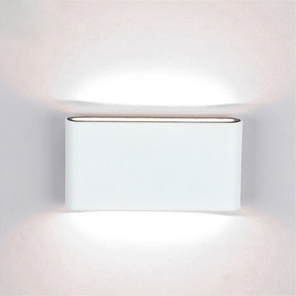 Lightsjoy Up Down Wall Light Ip65 Waterproof 12W LED Wall Lights Modern Wall Lamp Night Lighting for Living Room Bedroom Bathroom Garden Pathway Hallway Indoor/Outdoor, Cool White