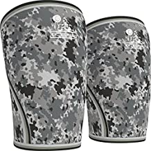 Knee Sleeves (1 Pair) Support & Compression for the Best Squats, 7mm Neoprene - by Nordic Lifting (Camo Grey, M)