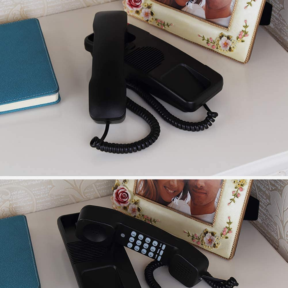 7.5 Wired telephone Wall-Mounted Telephone Home Bedroom Fixed Telephone Living Room Landline,Hands-Free And Caller Id(23 8cm)