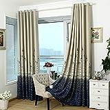 1 x 2.5m Single Piece Fantastic Style Castle Patterns Room Door Window Curtain Drape Valance for Living Room Kids Bedroom Blue