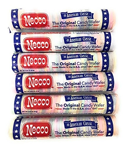 Necco Wafers Original Assorted Candy Rolls (Set of 6) by Necco