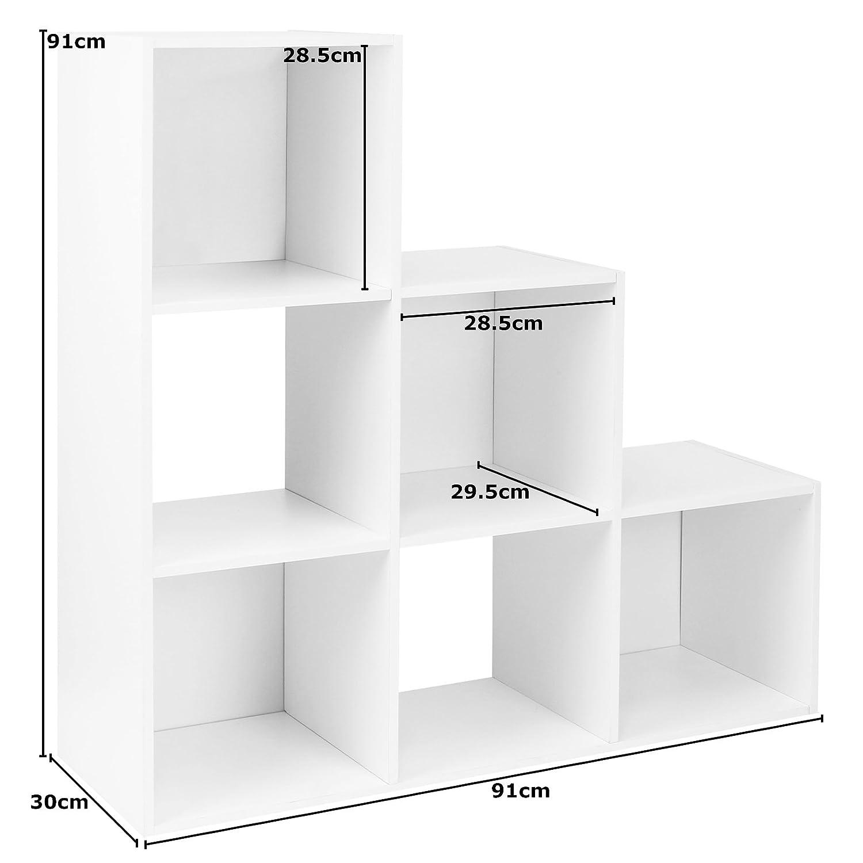 Hartleys Mobile Bianca con 6 cubi e 3 cassetti Neri