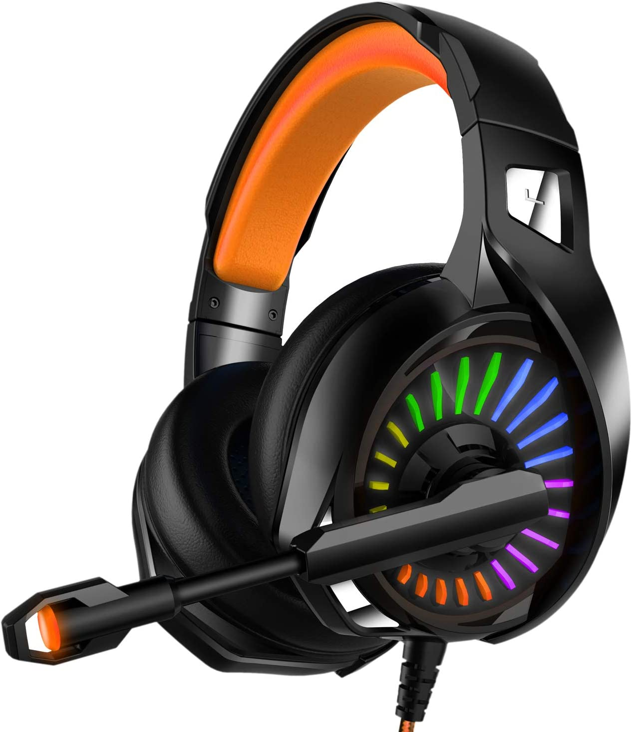 Gaming Headset Hands-Free Gaming Headset Portable Foldable Lightweight Music Headphones with Noise canceling Microphone Color : White, Size : M