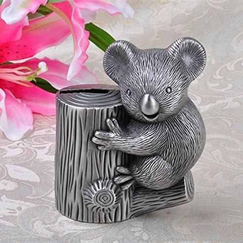 SU@DA Schweinchen Piggy Koala Zink Legierung Metall Handwerk in Europa und Amerika das Penny-Glas , ancient tin , 10x6.3x12.4cm