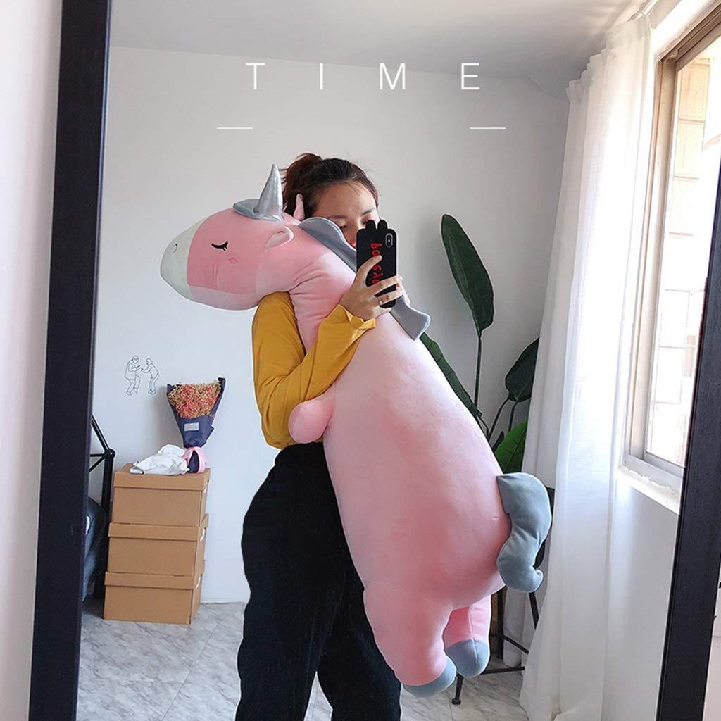 Color : Pink, Size : 70cm Cuscino Morbido Cuscino Striscia Giocattolo Cuscini decorativi Cuscino Unicorno Peluche Cartone Animato Bedtime Originale