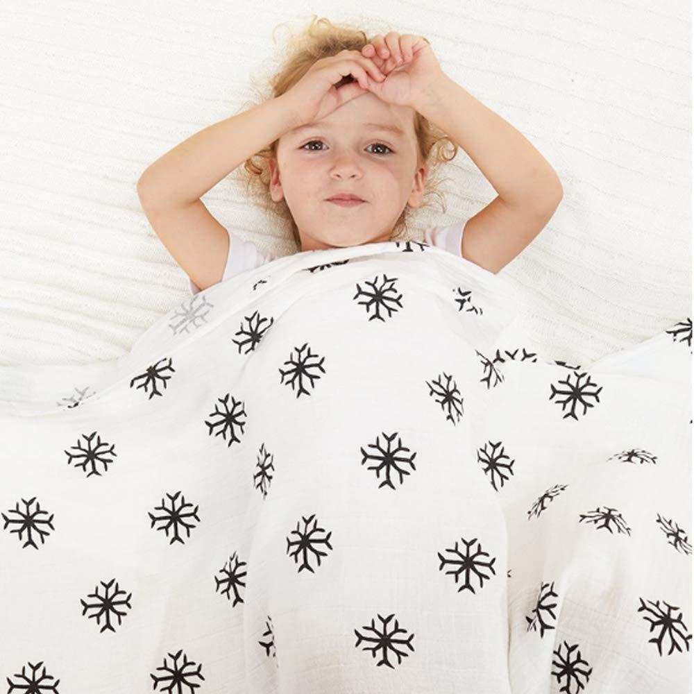 G-Tree Muslin b/éb/é Serviette de bain et Blanket poussette 47x47 pouces Muslin Blanket R/éception coton Gaze couverture chaude b/éb/é Swaddle