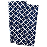DII Cotton Lattice Dish Towels with Hanging Loop, 18 X 28 Set of