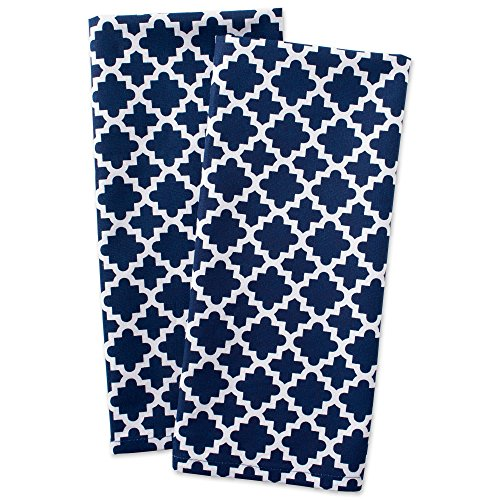 (DII Cotton Lattice Dish Towels with Hanging Loop, 18 X 28
