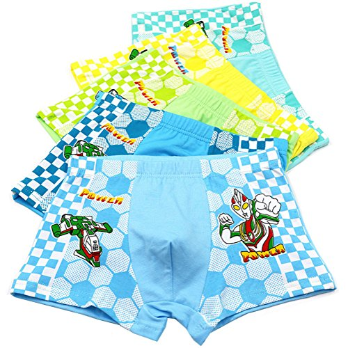 (2-8 Years Old Boys Character Ultraman Boxer Briefs Pattern Underwear)