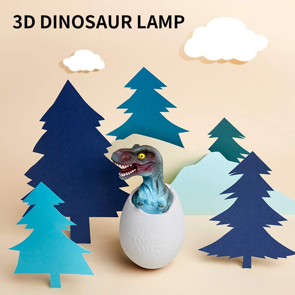 Touch Sensor Bedside Lamp Dinosaur Night Light 3D Hatching Dinosaur Eggs Toys Remote LED Lamp