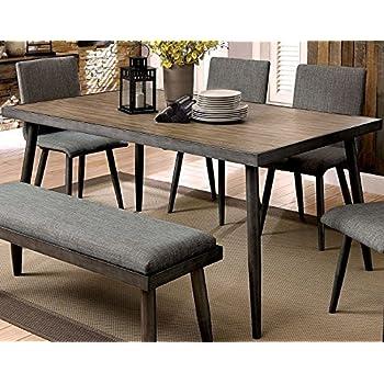 Furniture Of America CM3360T Vilhelm I Gray Rectangular Dining Table