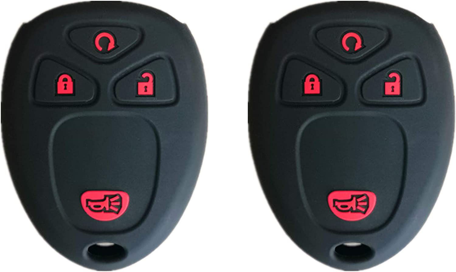 KAWIHEN SiliconeProtector CoverFit for Buick Cadillac Chevrolet Chevy CMC Pontiac Saturn 5 Buttons key fob KOBGT04A 22733524 10305091 10305092 OUC60270 OUC60221 15913415 15857839