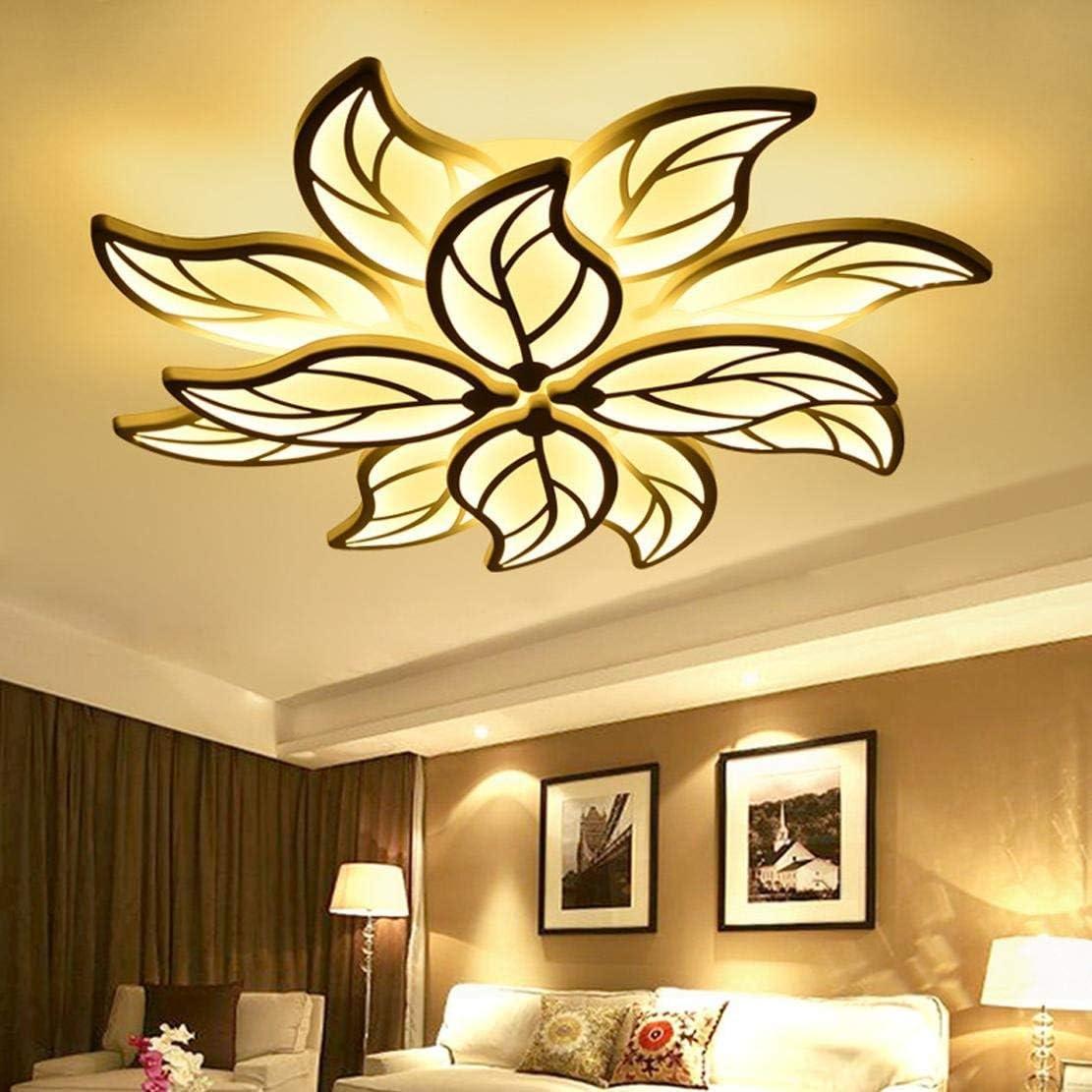 LED Deckenleuchte Wohnzimmerlampe Moderne Kunst Designer-Lampe Kreativ  Metall Acryl Blattform Romantisch und warm Decke Leuchte Deckenlampe
