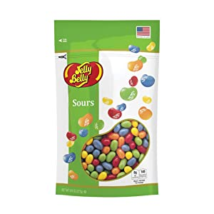 Jelly Belly Sours Jelly Beans, Sour Fruit Flavors, 9.8-oz Stand-Up Pouch