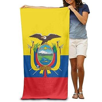 Bandera de Ecuador Toallas de playa para adultos de secado rápido, lavables a máquina,