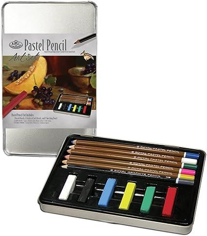 Royal Brush and Langnickel Small Tin Pastel Pencil Art Set