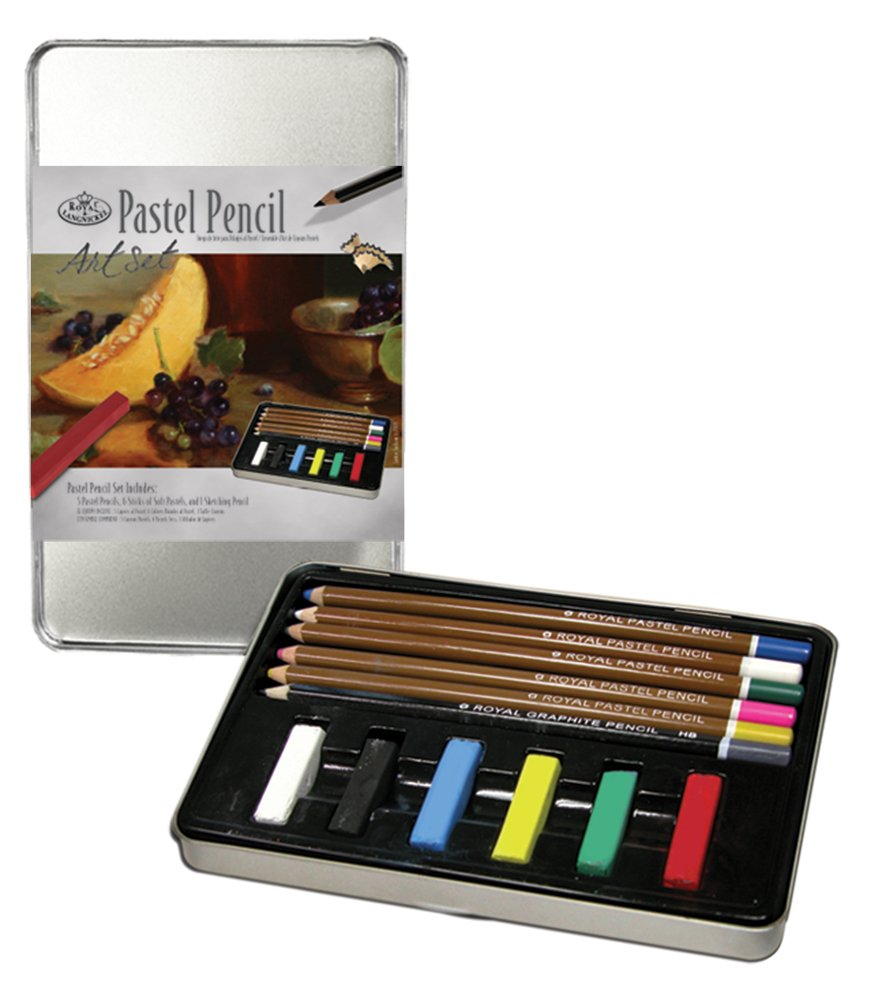 Royal Brush and Langnickel Small Tin Pastel Pencil Art Set Royal & Langnickel RSET-ART2506