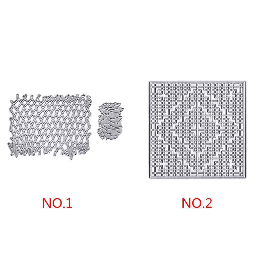 Valla de Pescado Cuadrado del Metal Troqueles de Corte de Acero al Carbono de Bricolaje /álbum de Recortes de Papel Decorativo Plantillas Regard