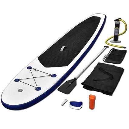 vidaXL Juego de Tabla de Paddle Surf Hinchable Deportes Acuáticos