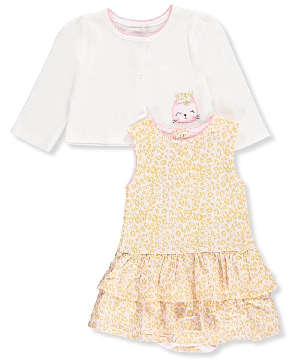 e589447b6 Amazon.com  BON BEBE Baby Girls  Hearts 2 Piece Dress and Cardigan ...