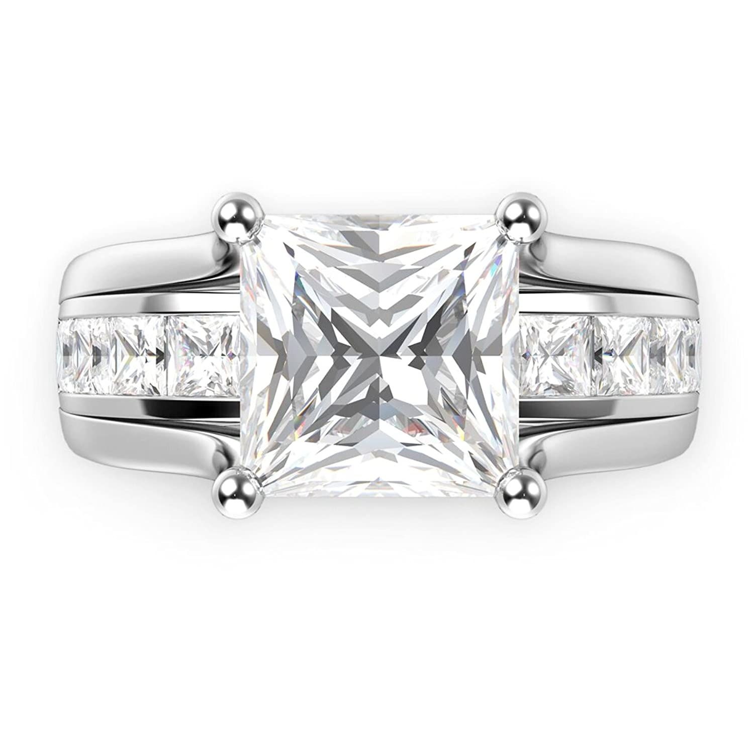 solitaire band cubic crislu eternity bands zirconia ring