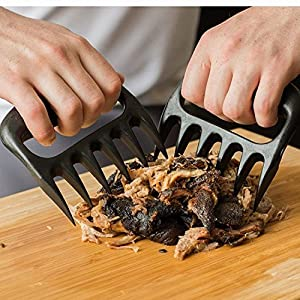 Complete Set For Grill/Oven/Barbecue - Silicone Gloves + 2 Non-Stick Mats + Pair of Meat Claws | Perfect Set as a Gift | FDA Approved, BPA Free