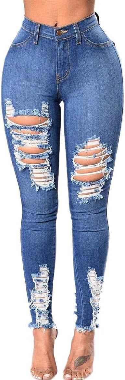Pantalones De Verano Para Mujer 2020 Nuevos Jeans Elasticos Pantalones De Mezclilla Sexy Para Mujer Agujero De Cintura Elastica Pantalones Vaqueros Para Exteriores Delgados Amazon Es Ropa Y Accesorios