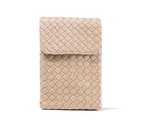 SUNDAYROSE piel sintética Crossbody celular bolsa Mini cartera de viaje bolso de mano, color blanco, talla Talla Unica: Amazon.es: Zapatos y complementos