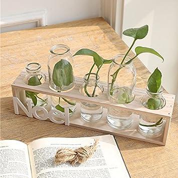 Zhfc Einfache Transparenten Glastisch Kleine Vase Sichern Anlage