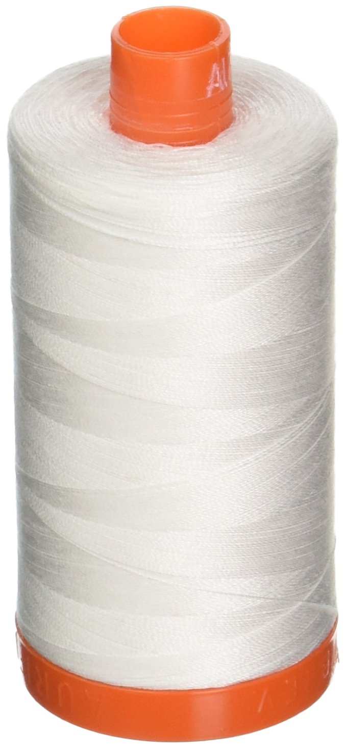 Aurifil A1050-2021 Mako Cotton Thread Solid 50WT 1422Yds Natural White Aurifil USA