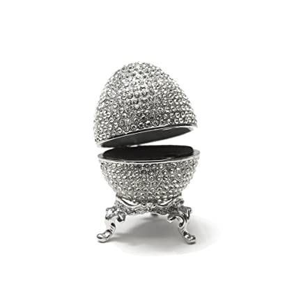 Amazoncom Faberge Egg Box Platinum Colored Swarovski Crystals