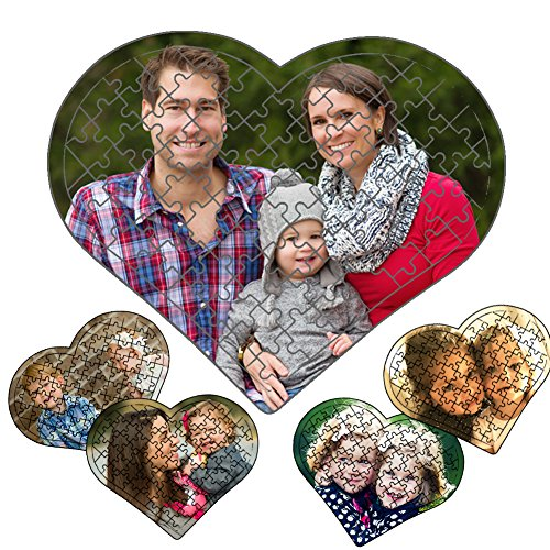 picontshirt Personalized Photo Print Jigsaw Puzzle Heart Shape 80 Pieces ()