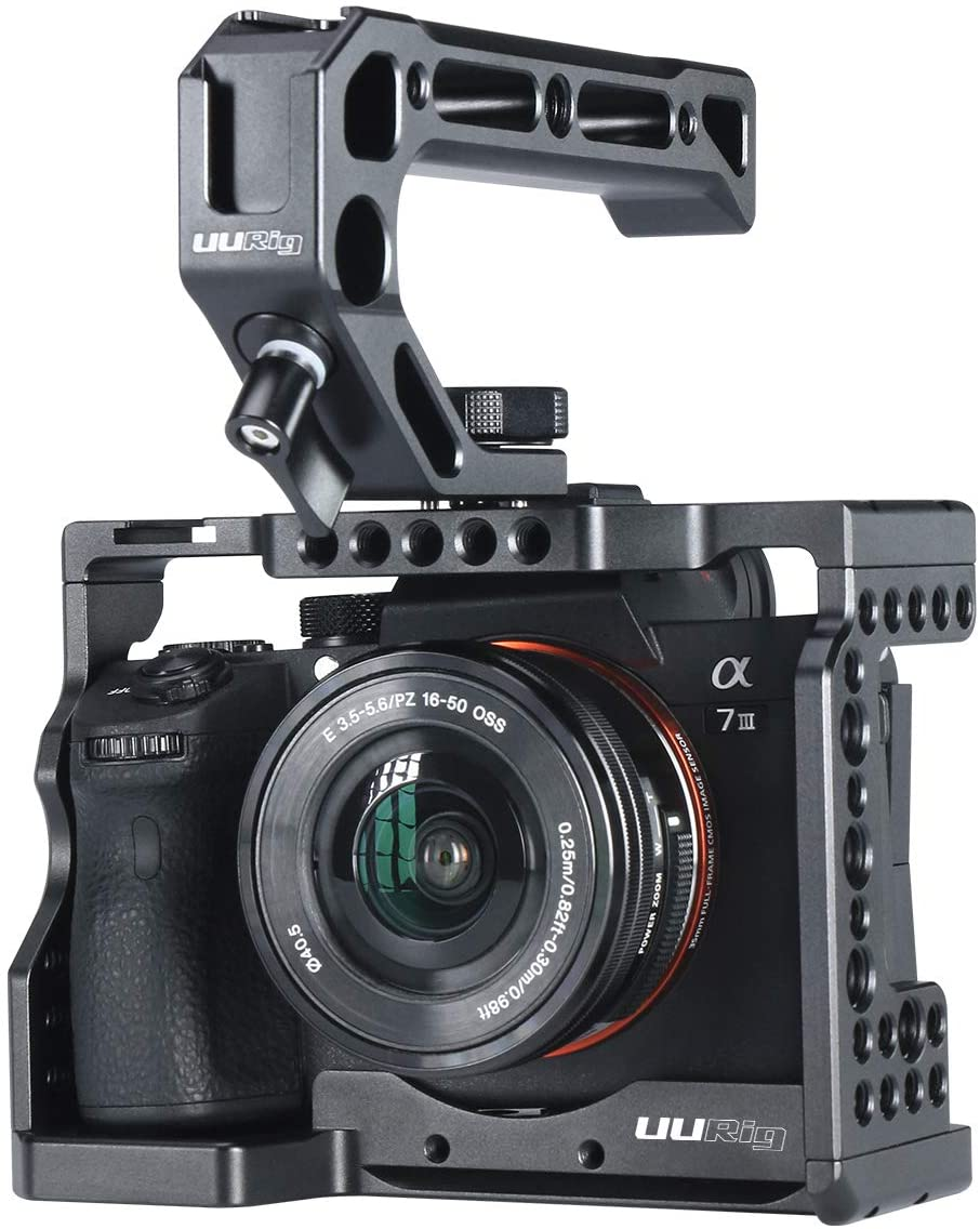 MAGICRIG DSLR Camera Cage with Top Handle Grip for Sony A7RIII //A7III //A7SII Camera to Quick Release Extension Kit