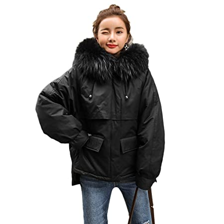 8fde65de1 lime Thickening Loose Women Jacket Warm Straight Down Coat Winter ...
