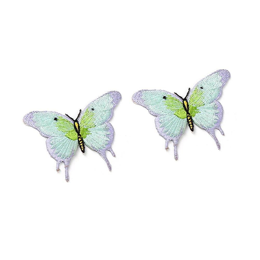 Anjing 12pcs bordado mariposa hierro en motivos de Patchwork, diseño de tela para mujer ropa DIY de coser: Amazon.es: Hogar