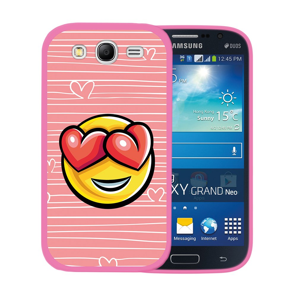 WoowCase Funda para Samsung Galaxy Grand Neo Plus, [Samsung Galaxy Grand Neo Plus ] Silicona Gel Flexible Emoticono Emoji Corazónes Amor, Carcasa Case ...