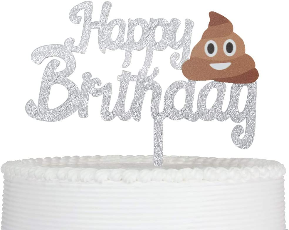 Tremendous Amazon Com Happy Birthday Cake Topper Cartoon Acrylic Funny Cake Personalised Birthday Cards Paralily Jamesorg