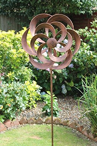 Creekwood 48042 Cotswold Wind Spinner 170cm Height-Brushed Copper, 16 x 50 x 170 cm