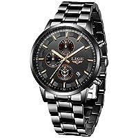 Men's Watch, Black, Stainless Steel, Waterproof, Elegant, Analogue, Quartz, Sport, Military, Chronograph, Calendar, Brand Watch