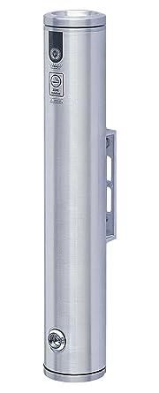 3-1//4 OD 19 Height Vestil SMK-W-19A Wall Mounted Aluminum Smoker Bollard