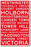 London, England Signs - NEW World Travel Train Station Street Sign Poster
