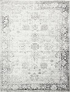 Gray 8' 11 x 12' FT Canterbury Rug Modern Traditional Vintage Inspired Overdyed Area Rugs