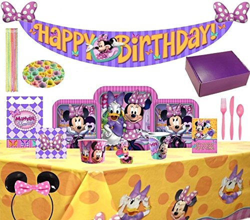 Birthday Bash In A Box Party Supplies (Minnie Mouse (Toddler Birthday Themes Girl)