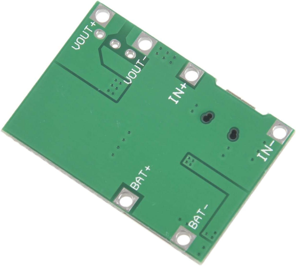 BKAUK 3.7V 9V 5V 2A Modulo Integrato di Ricarica per Batterie al Litio Step Up 18650 Regolabile