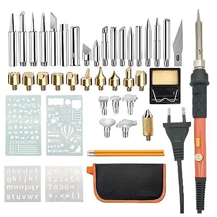 Vosarea 44 pcs 110 V Kit de Grabado de Madera Profesional pirografía bolígrafo Conjunto Temperatura Ajustable