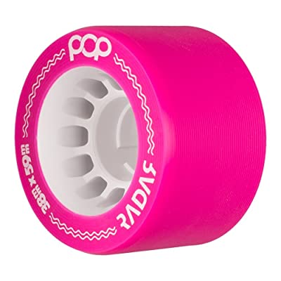 Radar Wheels - Pop - Quad Roller Skate Wheels - 4 Pack of 38mm x 59mm Wheels | Pink 93A : Sports & Outdoors