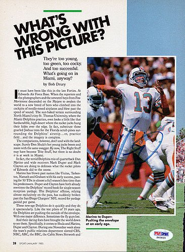 Dan Marino Signed Magazine Page Photograph Dolphins - Certified Genuine Autograph By PSA/DNA - Autographed Football - Photograph Signed Dan Marino