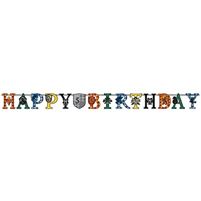 Harry Potter™ Large Customizable Birthday Banner - 1 pc: Toys & Games