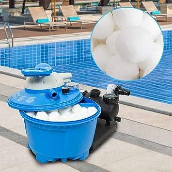 Einsparung von Flockungsmittel F/ür Salzwasser geeignet Umweltfreundlicher Ersatz f/ür Quarzsand und Filterglas 700 Filterb/älle Filtersand//Quarzsand Poolzubeh/ör Poolreiniger f/ür Sandfilteranlagen
