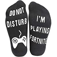 Funny Ankle Socks, Do Not Disturb, I'm Playing Fortnite Cotton Novelty Socks Perfect Gamer Gift - Christmas Birthday Halloween Present